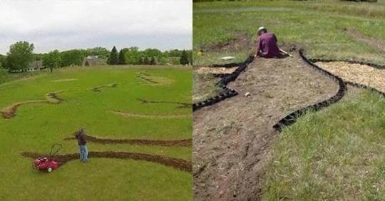 Ось уже півроку цей чоловік копає своє поле. Сусіди вже почали думати, що він збожеволів. Але коли він закінчив, вони заплакали..