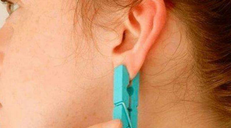 Затисніть вухо прищіпкою на 5 секунд. Ефект буде несподіваним, обіцяємо!