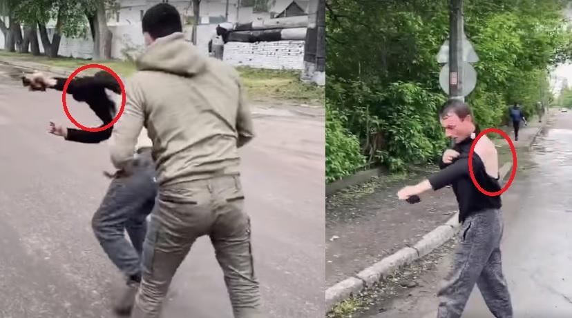 """Ветеран АТО-вець """"провчив"""" маршрутчика, який не хотів везти його і виганяв з автобуса (Відео)"""