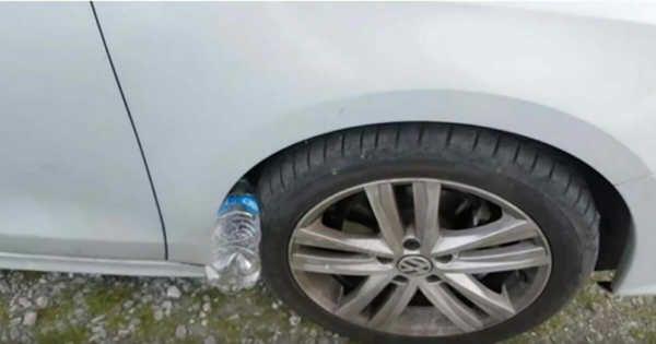 Якщо на колесі вашої машини лежить пластикова пляшка — ви в небезпеці