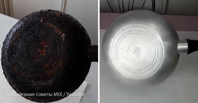 Як очистити сковороду від нагару, щоб вона виблискувала.Віде0