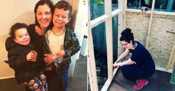 Після розлучення чоловік вигнав з двома дітьми з дому. Мати своїми руками збудувала будиночок!