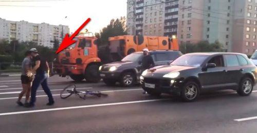 Мажори хотіли влаштувати розборки з бідним велосипедистом! Але тут сталося несподіване