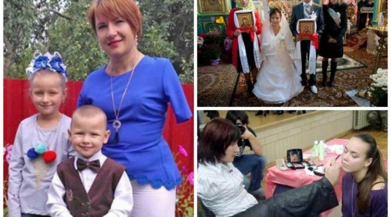 Віра Фещук із села Залісці, що на Тернопільщині, народилася без обох рук. Тим не менше, вона чистить картоплю, сапає, робить макіяж та вишиває
