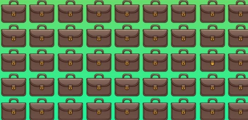 Тест на уважність: один з портфелів відрізняється від інших. Який саме?