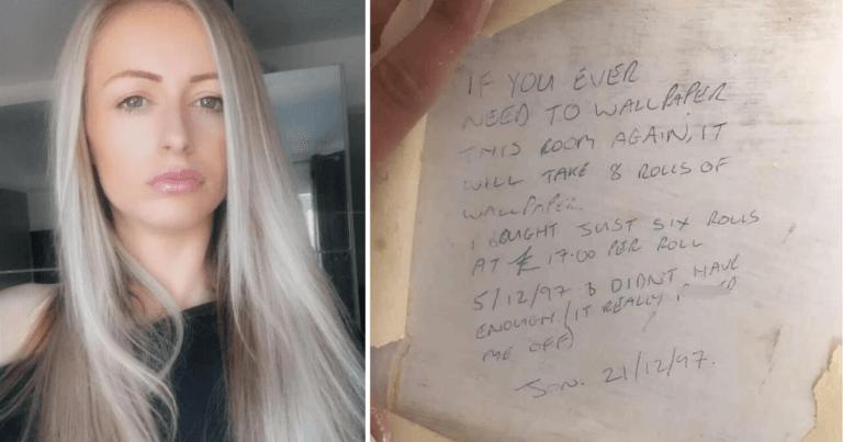 Дівчина затіяла вдома ремонт і знайшла під шпалерами повідомлення 20-річної давності від попереднього власника