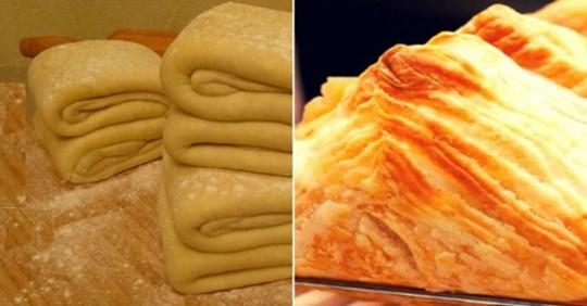 Листкове тісто за 10 хвилин – простий рецепт!