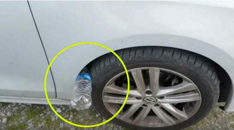 Якщо на колесі вашої машини лежить пластикова пляшка — ви в небезпеці…