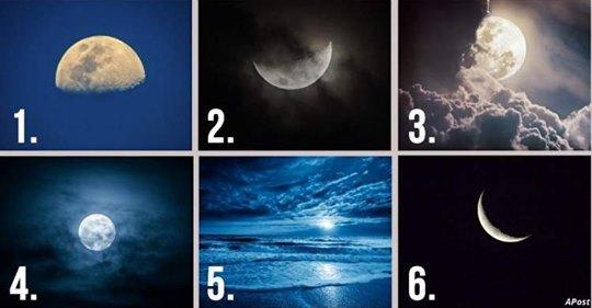 Який Місяць на зображенні вам подобається найбільше? Відповідь розкриє риси вашого характеру