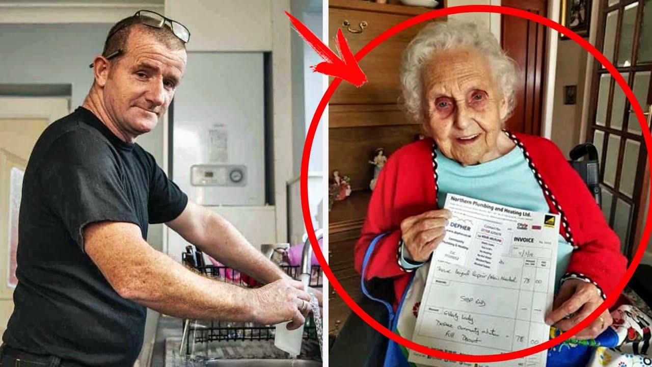 Сантехнік виписав 91-річній бабусі рахунок і довів її з онукою до сліз … Вони розраховували на інше