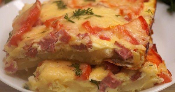 """Смачнюща картопляна """"піца"""" на сковороді. З найпростіших інгредієнтів отримуємо шикарну вечерю для всієї родини"""