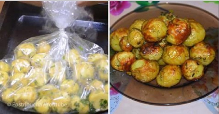 Дуже смачна картопля в рукаві – швидко, просто, без бризгів і миття плити!