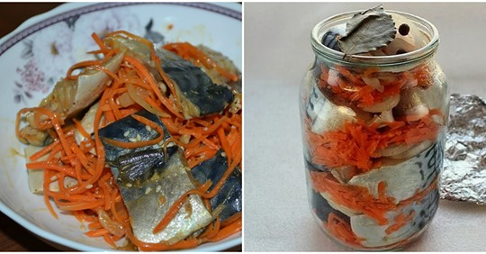 Рецепт скумбрії в банці. Виходить смачна, ніжна та ароматна.
