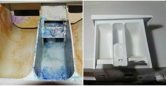 Простий спосіб почистити забруднений лоток пральної машинки